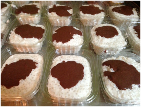 Pudding- creamy coconut tapioca pudding topped with rich chocolate ...